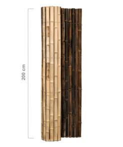 Puoli pyöreät mustat bambuaita-rullat
